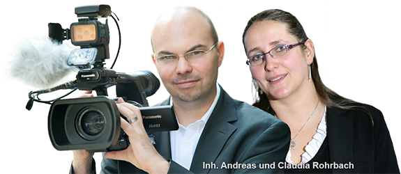 Foto: Die K�pfe hinter Hochzeitsfilme Andreas und Claudia Rohrbach GbR